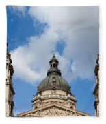 St. Stephen's Basilica Dome And Bell Towers Fleece Blanket