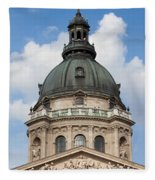 St. Stephen's Basilica Dome In Budapest Fleece Blanket
