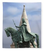 St Stephen's Statue In Budapest Fleece Blanket