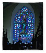 St Thomas Stained Glass Fleece Blanket