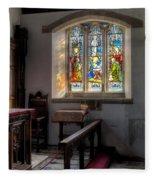 St Tysilio Window  Fleece Blanket