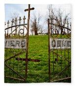 St. Xaviers Cemetery Fleece Blanket