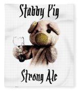 Stabby Pig Strong Ale Fleece Blanket