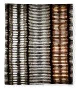 Stacked Coins Fleece Blanket