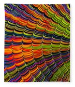 Stacked Colors Fleece Blanket