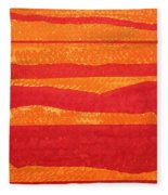 Stacked Landscapes Original Painting Fleece Blanket