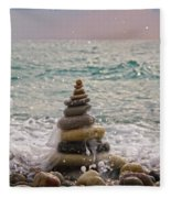 Stacking Stones Fleece Blanket