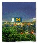 Stadium At Night Fleece Blanket