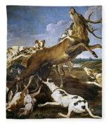 Stag Hunt Fleece Blanket