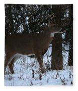 Stag In The Woods Fleece Blanket