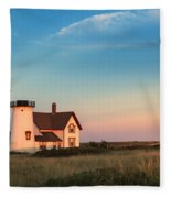 Stage Harbor Lighthouse Fleece Blanket