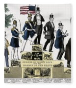 Stages Of A Mans Life  1848 Fleece Blanket