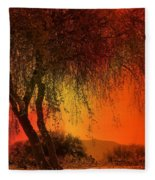 Stained By The Sunset Fleece Blanket
