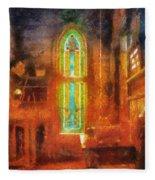 Stained Glass 05 Photo Art Fleece Blanket
