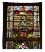 Stained Glass 3 Panel Vertical Composite 02 Fleece Blanket