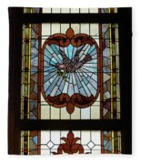 Stained Glass 3 Panel Vertical Composite 03 Fleece Blanket