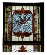 Stained Glass 3 Panel Vertical Composite 05 Fleece Blanket