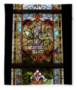 Stained Glass 3 Panel Vertical Composite 06 Fleece Blanket