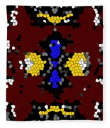 Stained Glass Art Abstract Fleece Blanket