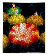 Stained Glass Candle 1 Fleece Blanket