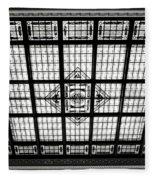 Stained Glass Hoboken Terminal Fleece Blanket