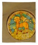 Stained Glass In Colva Fleece Blanket