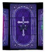 Stained Glass - Purple Fleece Blanket