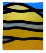 Stained Glass Scenery 3 Fleece Blanket