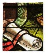 Stained Glass Scroll Fleece Blanket