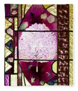 Stained Glass Template Magnolia Glory Fleece Blanket