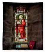 Stained Glass Window 2 Fleece Blanket