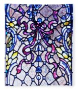 Stained Glass Window Fleece Blanket