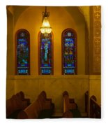 Stained Glass Windows At St Sophia Fleece Blanket