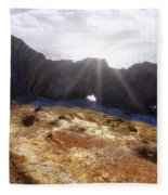 Stair Hole Cove Dorset Fleece Blanket
