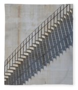 Stairs And Shadows 1 Fleece Blanket