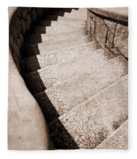 Stairs At Maymont Fleece Blanket
