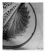Stairs At The Fort Gratiot Light House Fleece Blanket