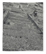 Stairs In The Cemetary Fleece Blanket