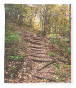 Stairs Into The Forest Fleece Blanket