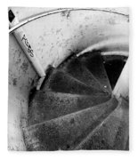 Stairs Leading Downward Into The Catacombs Of Paris France Fleece Blanket