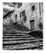 Stairs To Lavertezzo Fleece Blanket