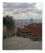 Stairs To Prague Fleece Blanket