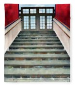 Stairs To The Barn Fleece Blanket
