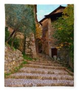 Stairs To The Village Fleece Blanket