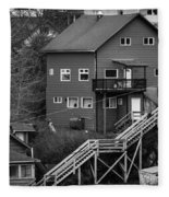 Stairs Up To Home Fleece Blanket