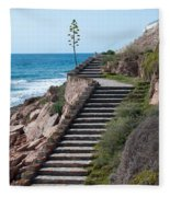 Stairway And Agave On Top. Fleece Blanket