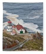 Stairway Leading To Point Reyes Lighthouse Fleece Blanket
