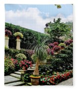 Stairway To Isola Bella Fleece Blanket