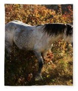 Stallion Of The Badlands Fleece Blanket