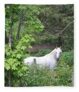 Stallion On Independence Day Fleece Blanket